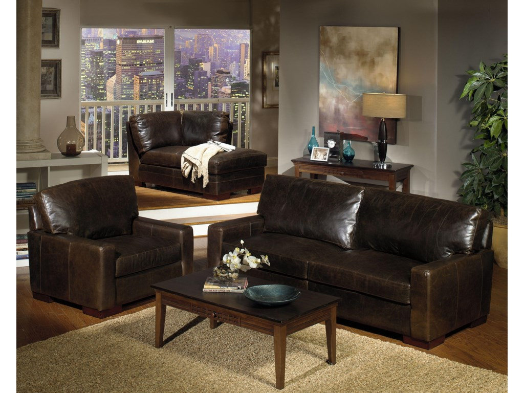 USA Premium Leather 5925Contemporary Leather Chair