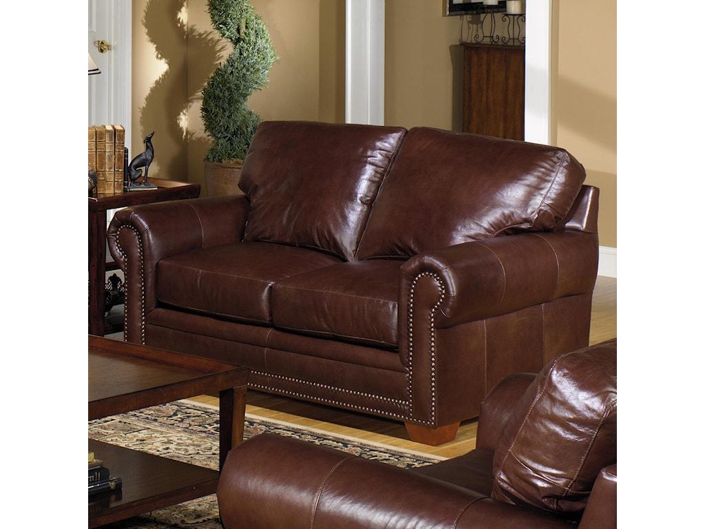 USA Premium Leather 7855Leather Stationary Loveseat