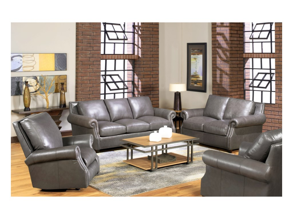 USA Premium Leather 8655Leather Chair
