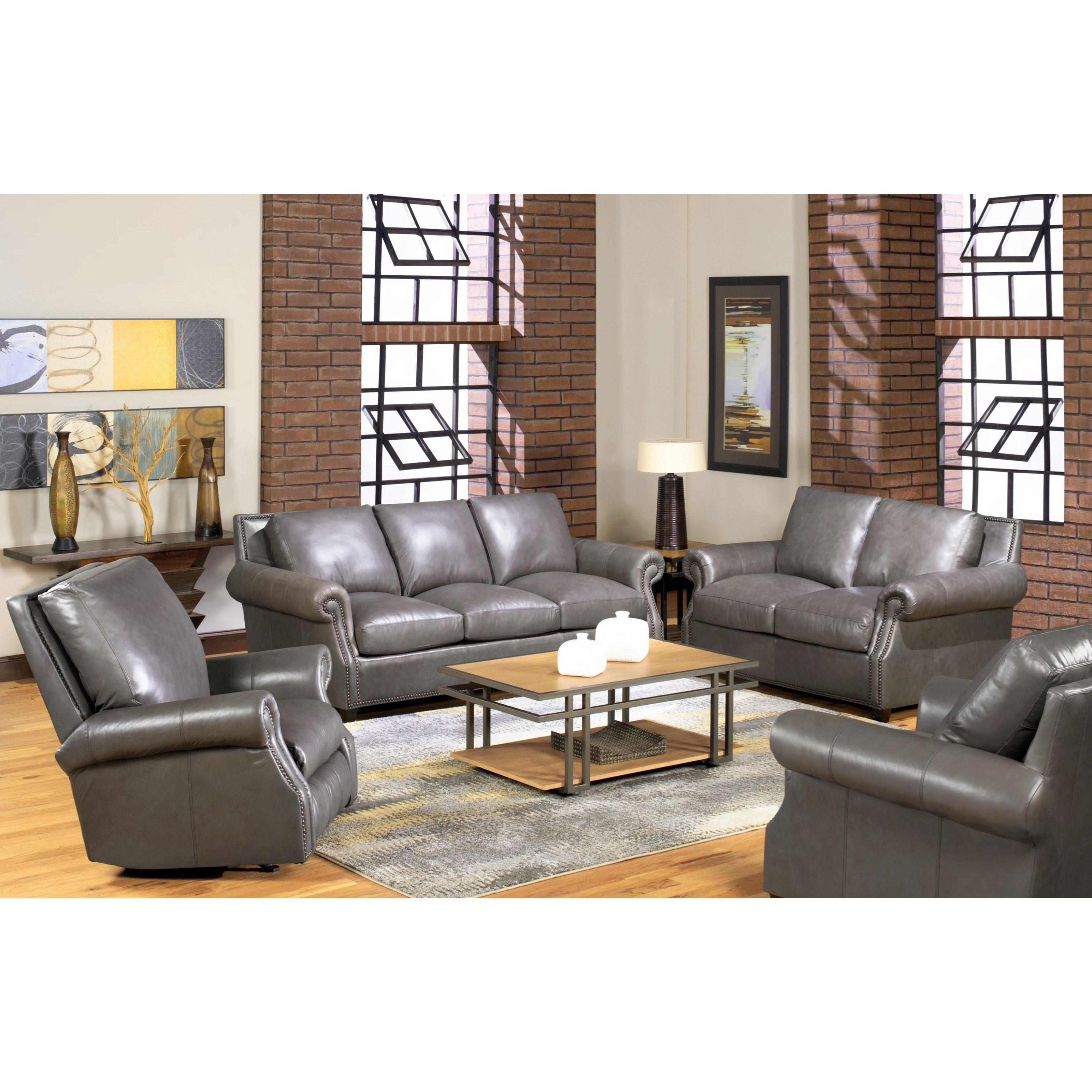 USA Premium Leather 8655 Leather Sofa