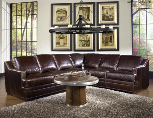 Best of USA Premium Leather 9355 Sectional Sofa in  Leather Upholstery Simple - Modern 100 Leather sofa New Design