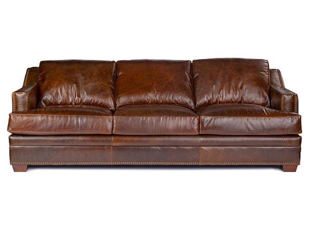 9355 Track Arm Sofa w/ Nailhead Trim by USA Premium Leather at Dream Home  Interiors