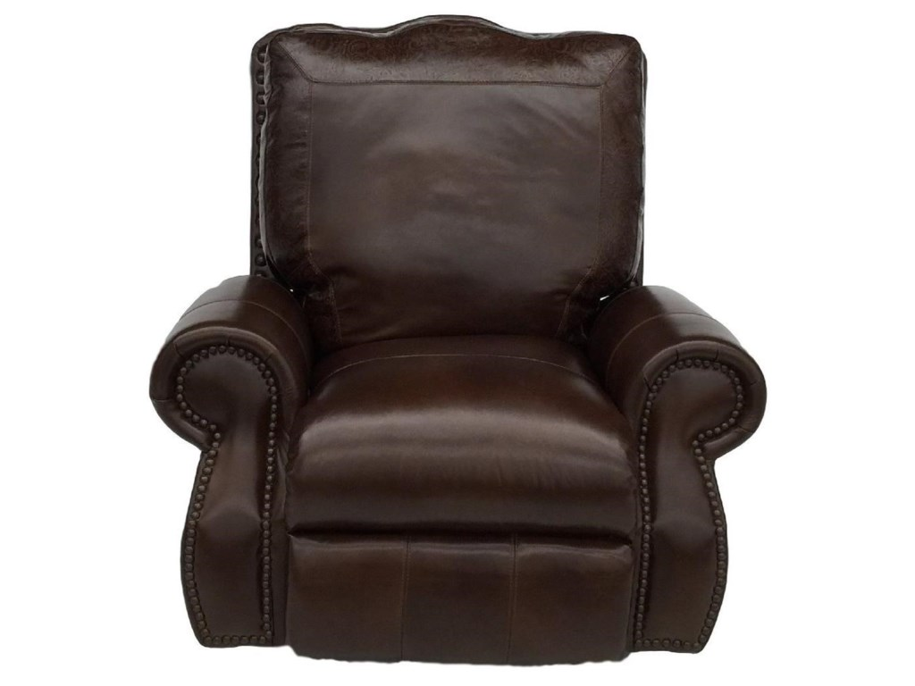 USA Premium Leather 9750Nailhead Recliner