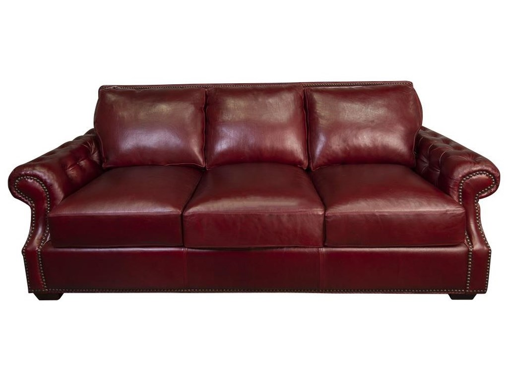 Morris Home JacobyJacoby 100% Top Grain Leather Sofa