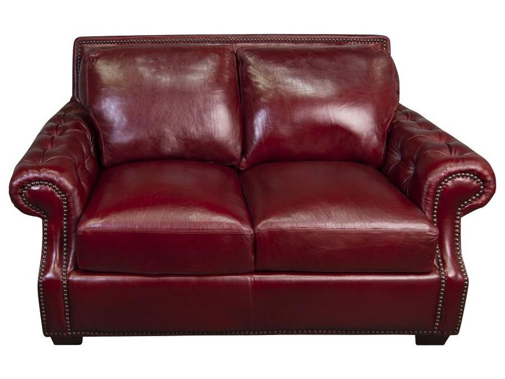 Morris Home JacobyJacoby 100% Top Grain Leather Loveseat