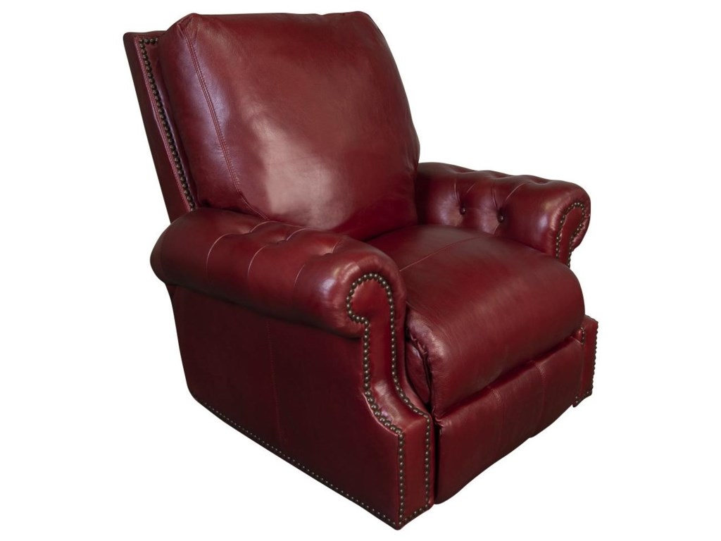 Morris Home JacobyJacoby 100% Top Grain Leather Power Recliner