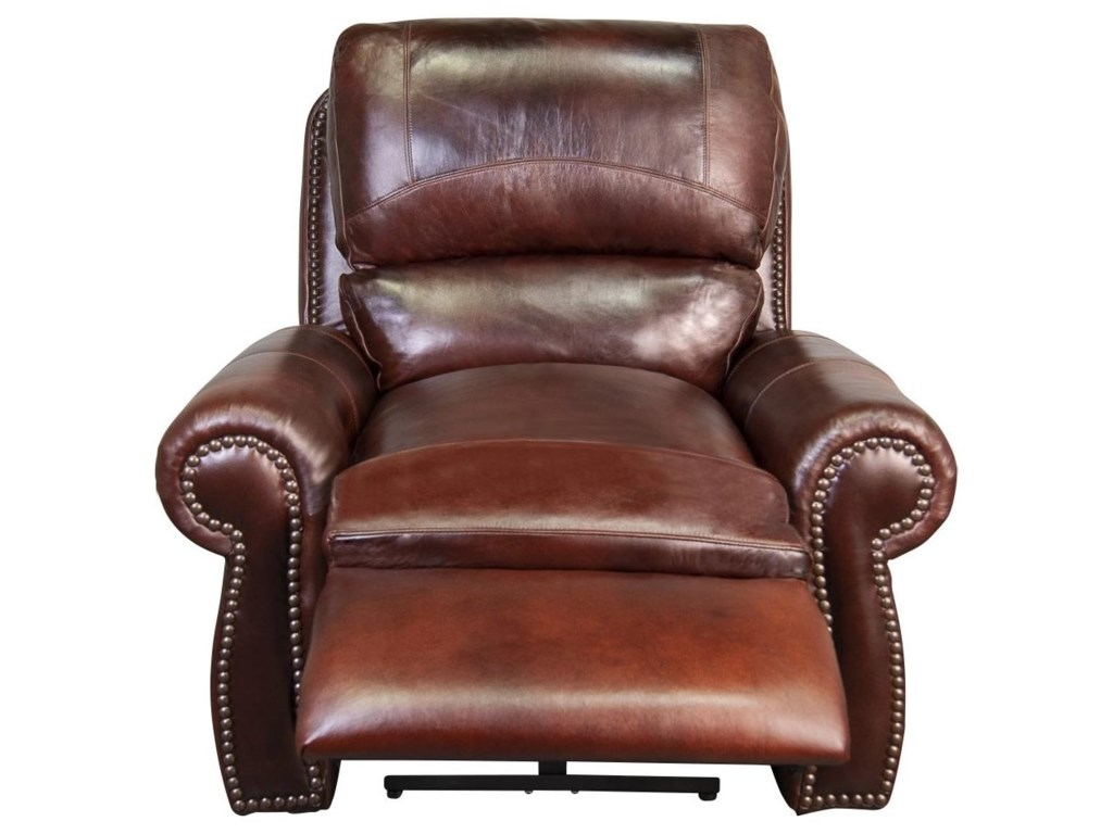 Morris Home PeircePeirce 100% Top Grain Leather Power Recliner