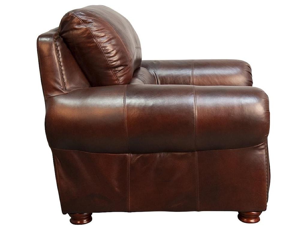 Morris Home PeircePeirce 100% Top Grain Leather Chair