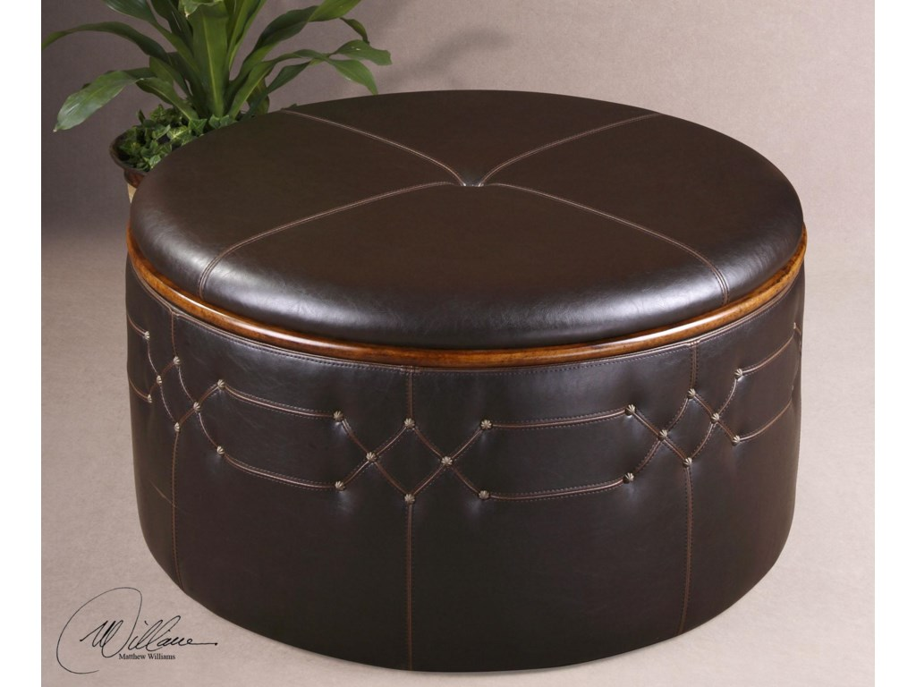 Uttermost Accent Furniture - OttomansBrunner Storage Ottoman