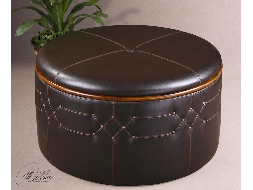 Uttermost Accent FurnitureBrunner Storage Ottoman