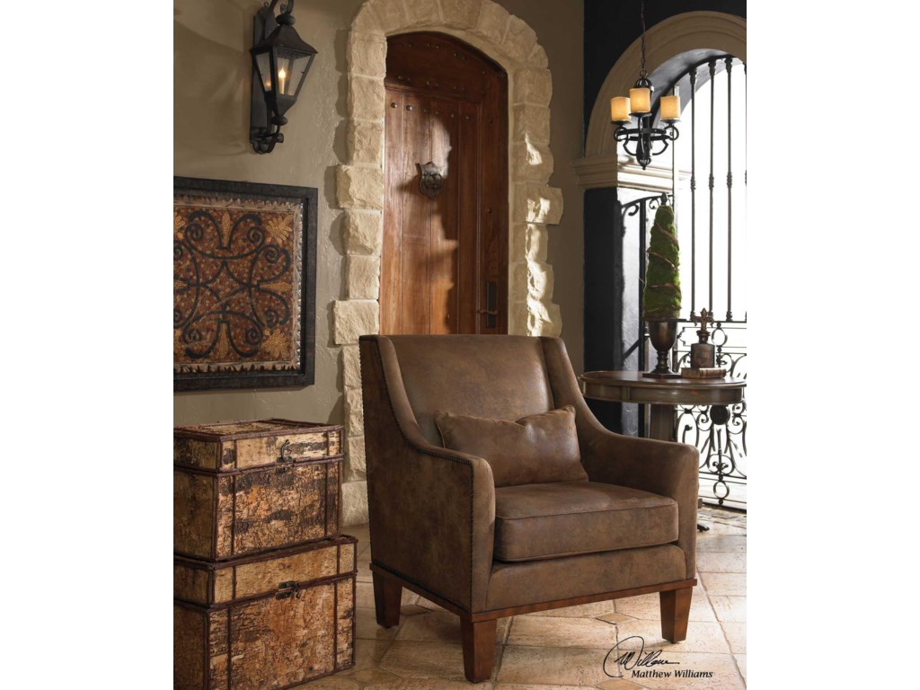 Uttermost Accent Furniture Accent Chairs 23030 Clay Transitional