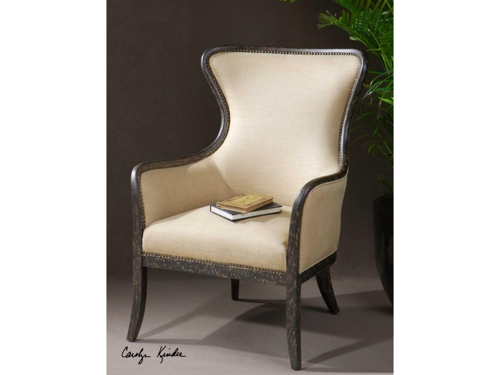 Uttermost Accent Furniture - Accent ChairsZander Wing Chair