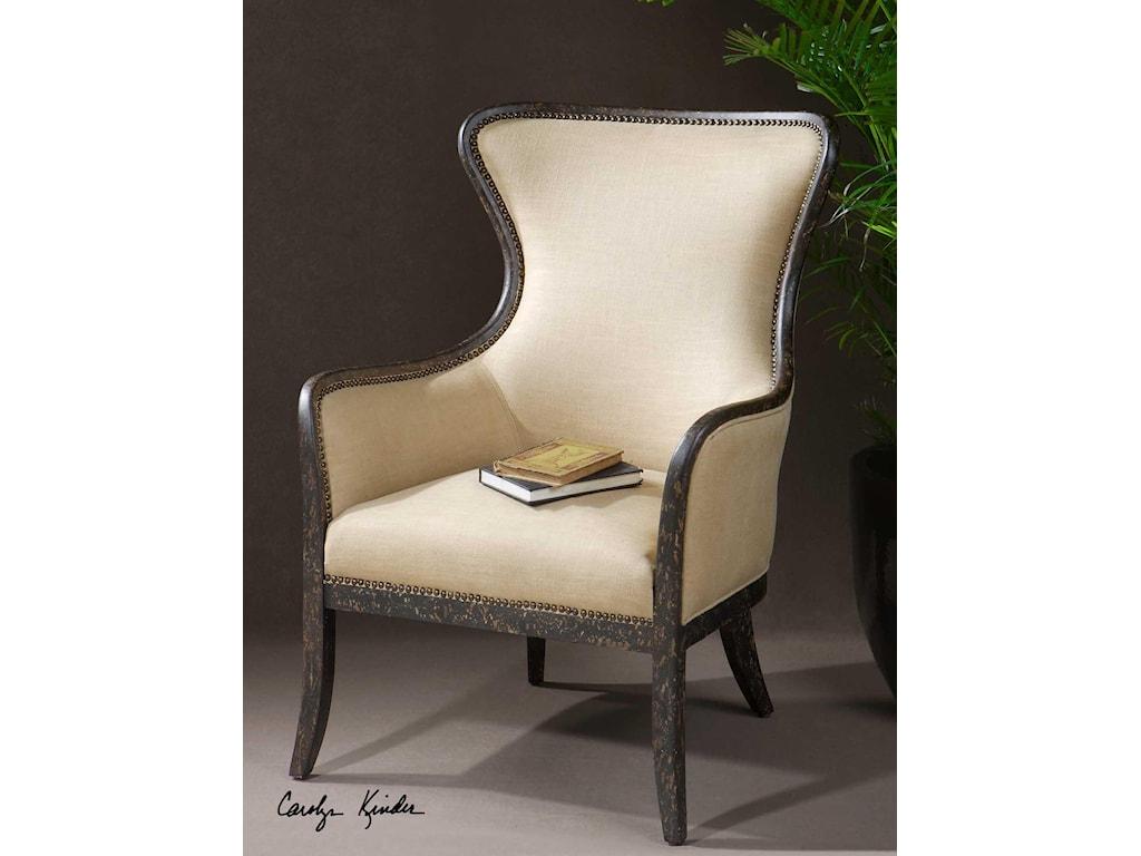 Uttermost Accent FurnitureZander Wing Chair