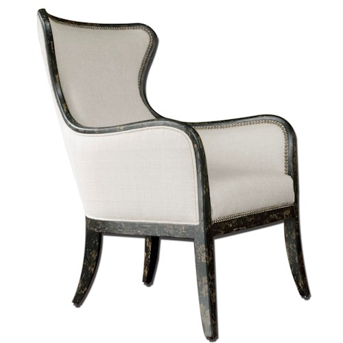 Uttermost Accent Furniture Sandy Modern Wing Chair