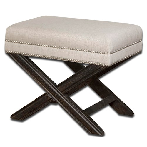 Uttermost Accent Furniture Viera Small Bench or Accent Ottoman