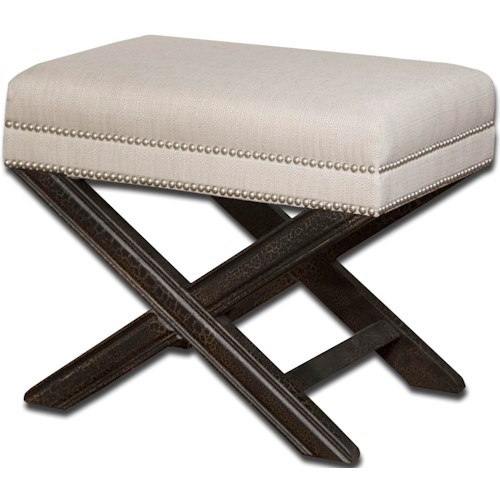 Uttermost Accent Furniture - Benches Viera Small Bench or Accent Ottoman