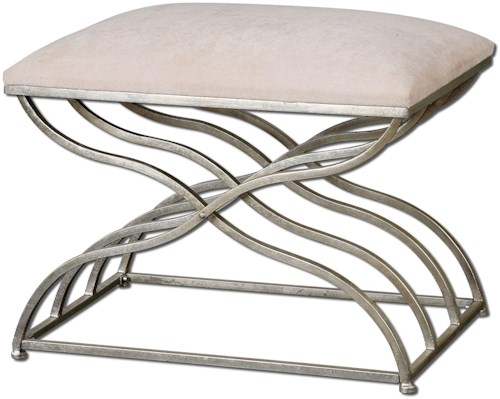 Uttermost Accent Furniture Shea Small Modern Bench