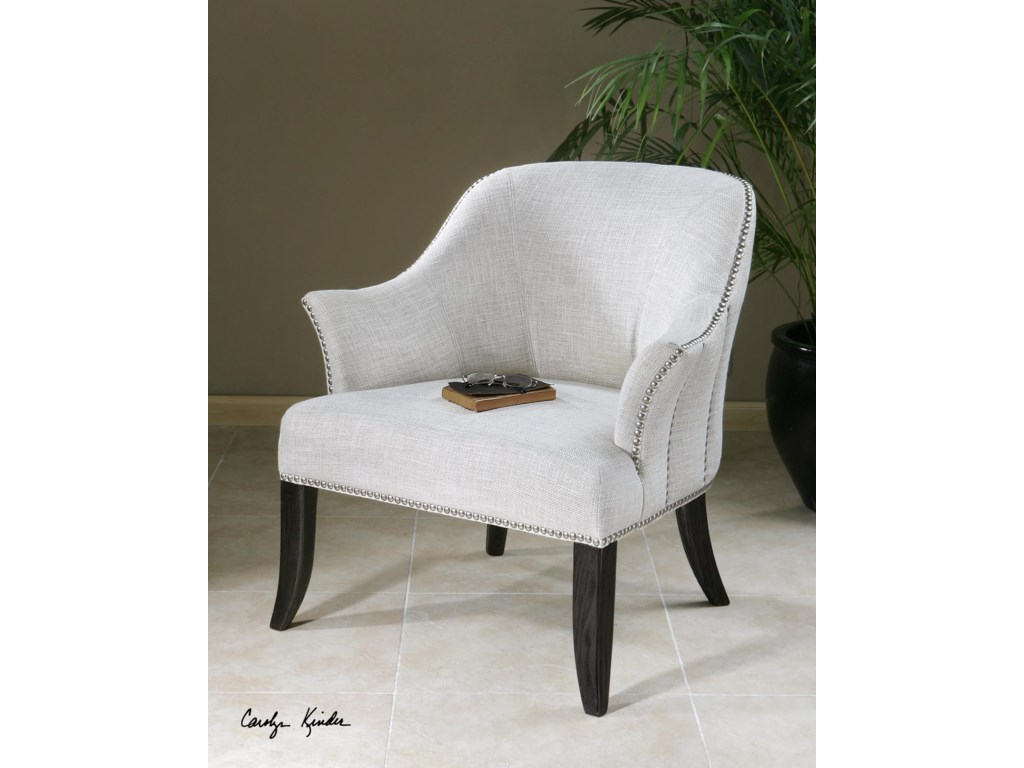 Uttermost Accent FurnitureLeisa White ArmChair