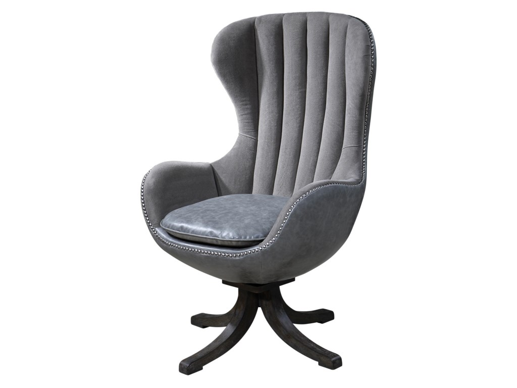 Uttermost Accent Furniture - Accent ChairsLinford Swivel Chair