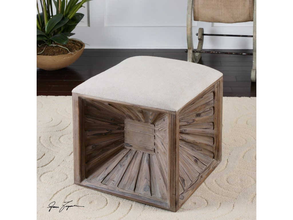 Uttermost Accent Furniture - OttomansJia Wooden Ottoman