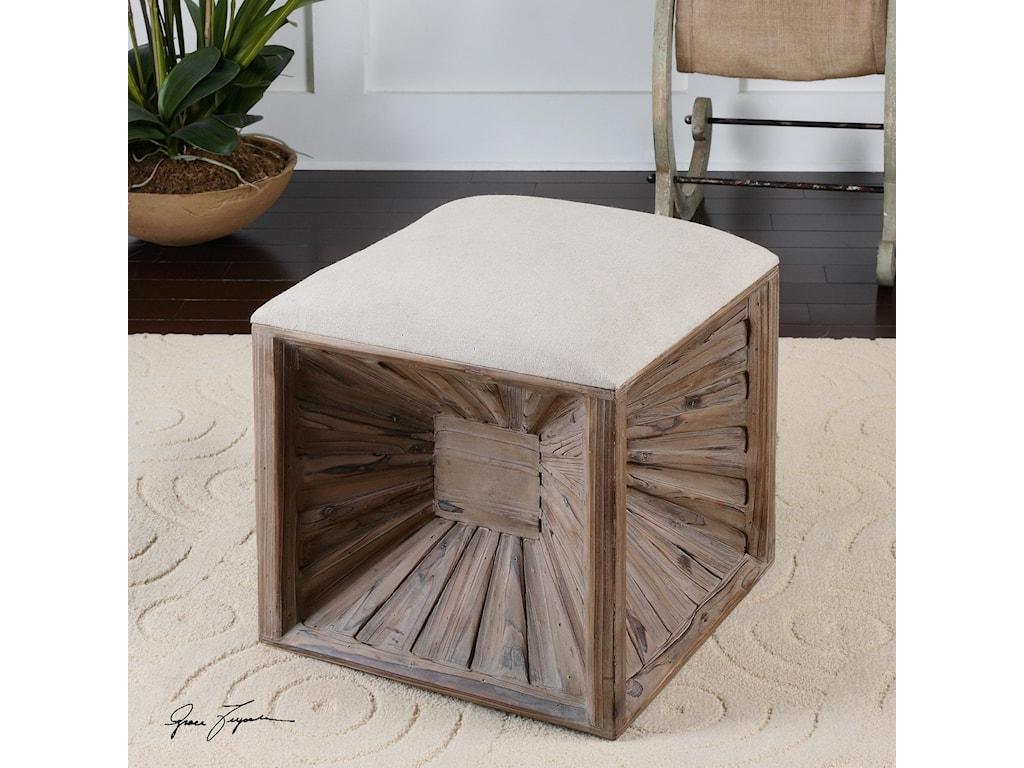 Uttermost Accent FurnitureJia Wooden Ottoman