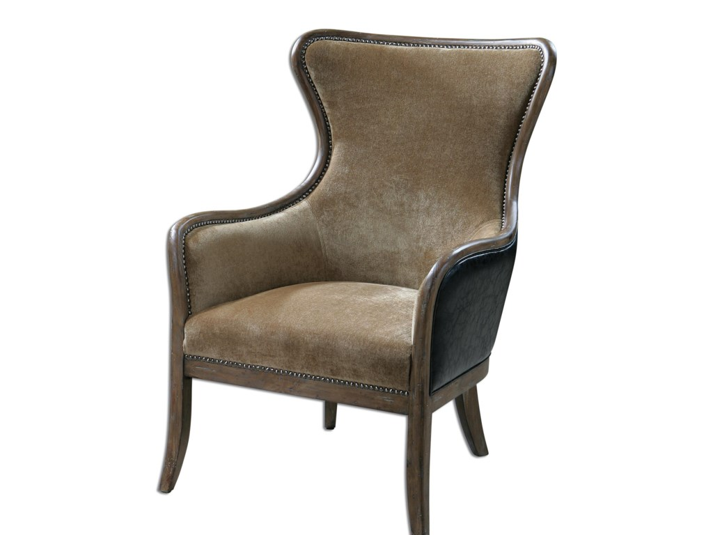 Uttermost Accent FurnitureSnowden Tan Wing Chair