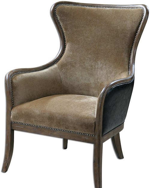 Uttermost Accent Furniture Snowden Tan Wing Chair