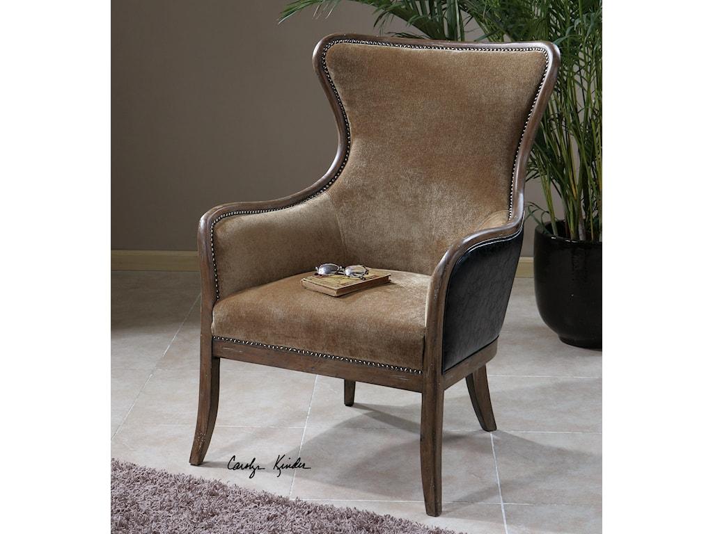 Uttermost Accent FurnitureSnowden Tan Wing Chair