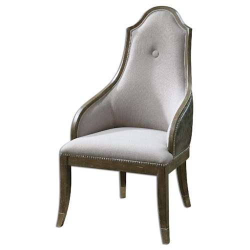 Uttermost Accent Furniture Sylvana Gray Accent Chair