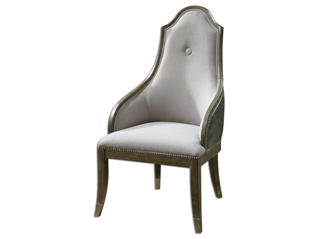 Uttermost Accent Furniture - Accent ChairsSylvana Gray Accent Chair