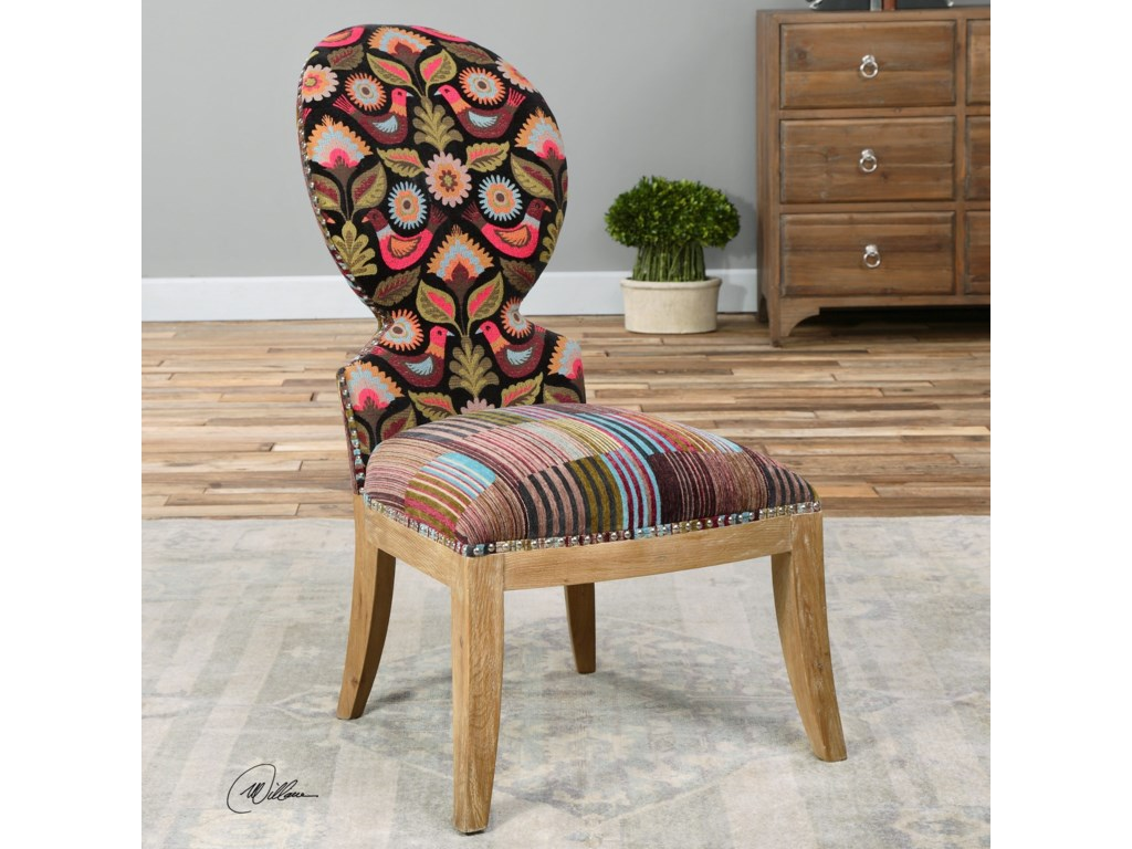 Uttermost Accent FurnitureCruzita Patterned Armless Chair