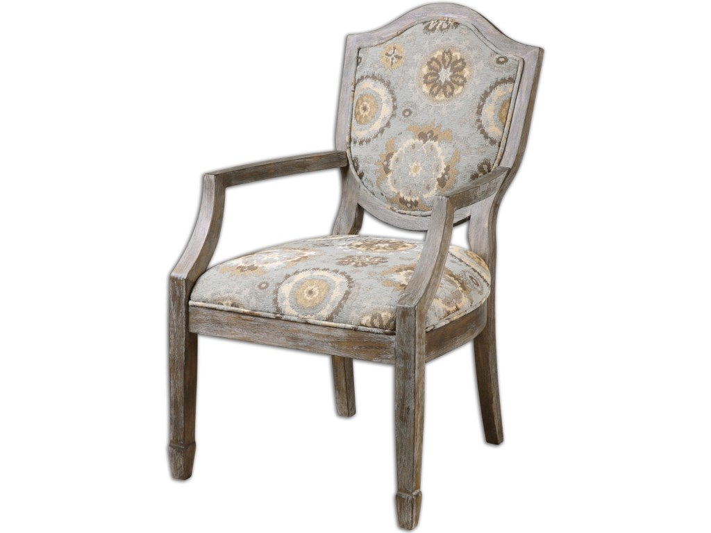 Uttermost Accent Furniture - Accent ChairsValene Weathered Accent Chair