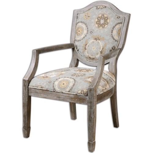 Uttermost Accent Furniture Valene Weathered Accent Chair
