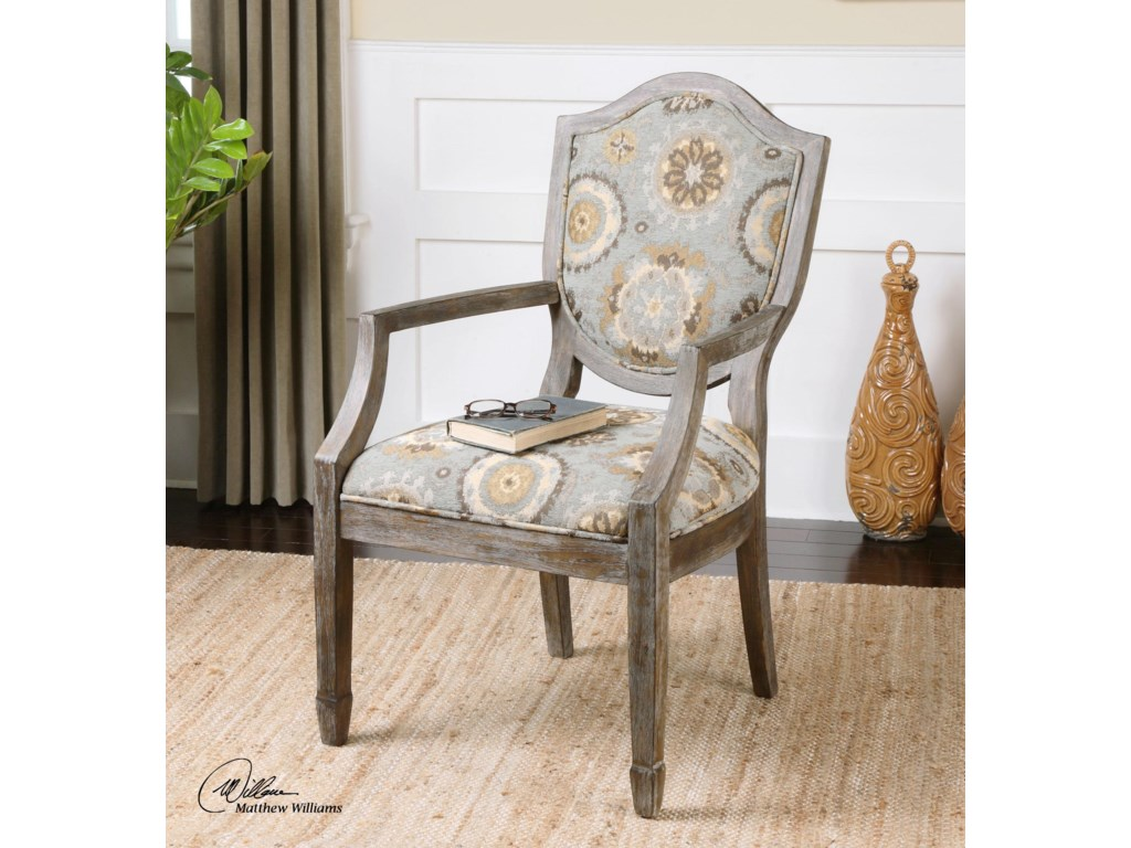 Uttermost Accent FurnitureValene Weathered Accent Chair