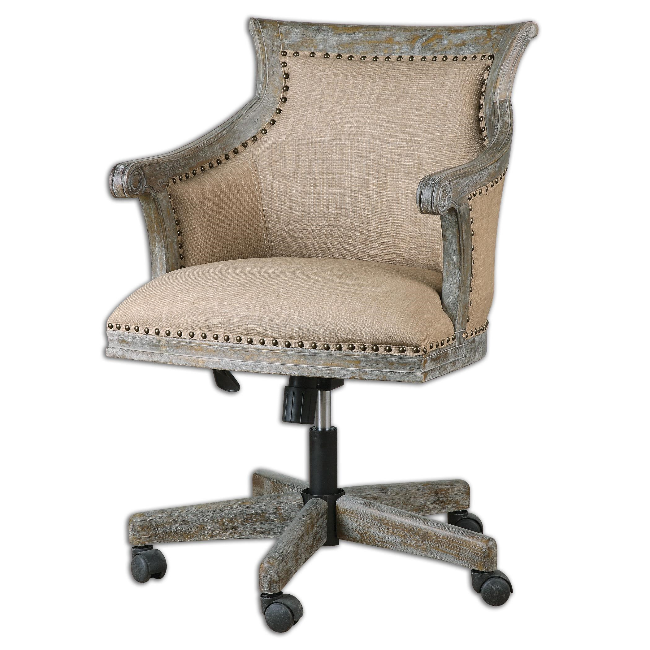 Uttermost Accent FurnitureKimalina Linen Accent Chair ...
