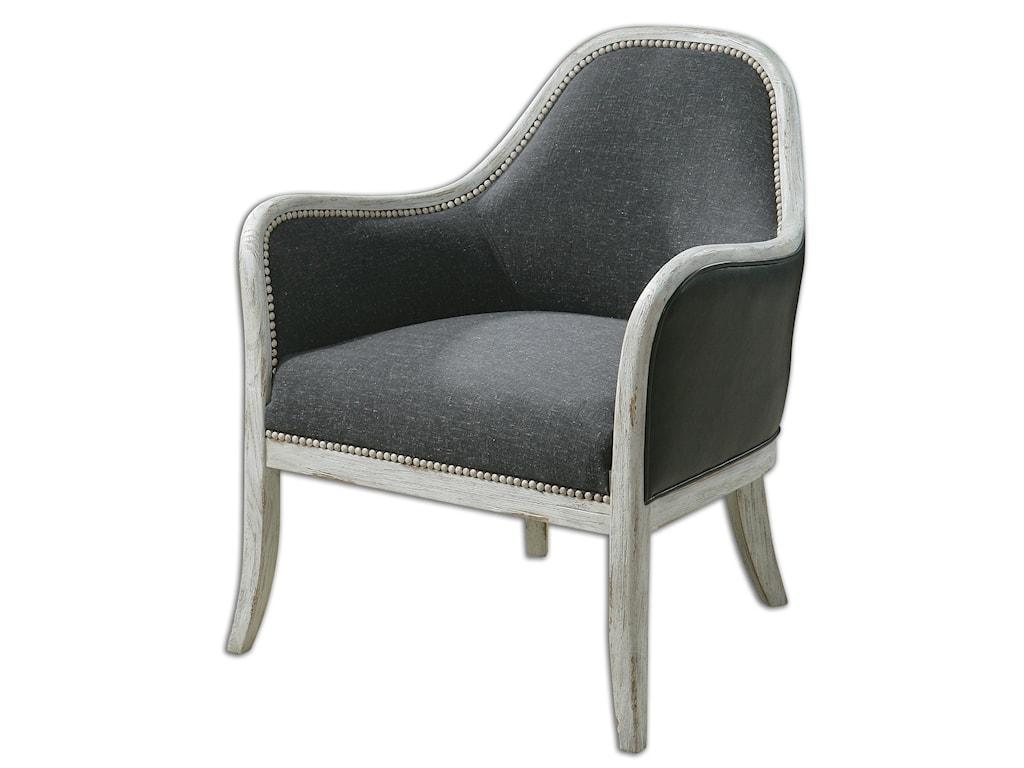 Uttermost Accent FurnitureDayla Indigo Accent Chair