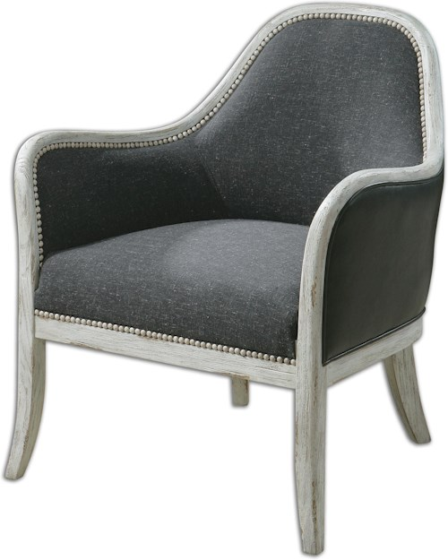 Uttermost Accent Furniture Dayla Indigo Accent Chair