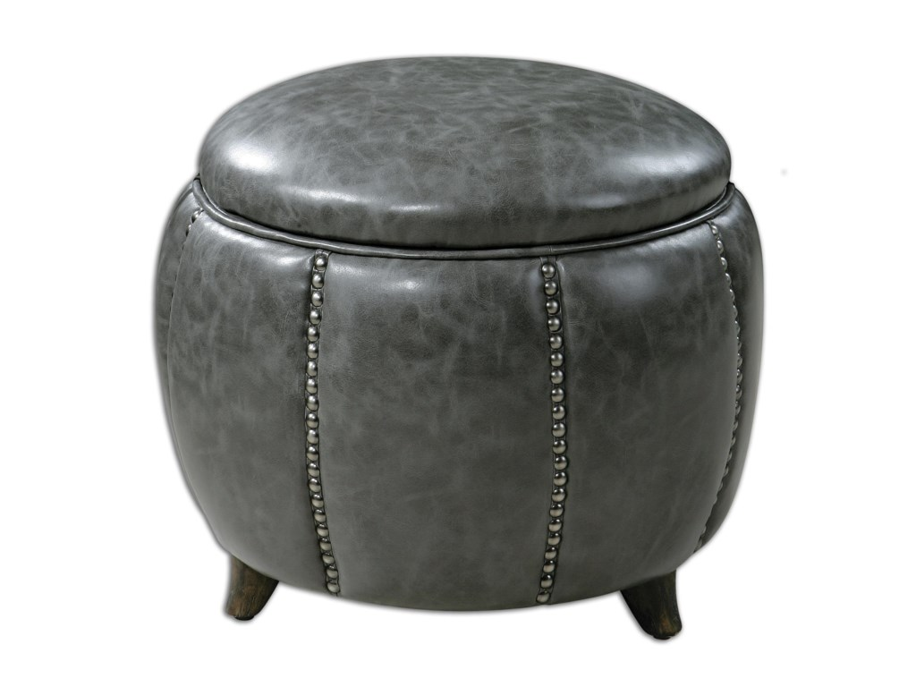 Uttermost Accent FurnitureLinford Round Storage Ottoman