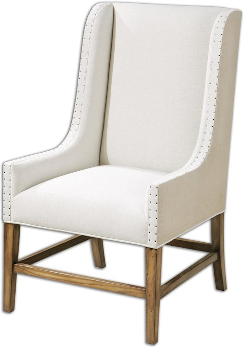 Uttermost Accent Furniture Dalma Linen Wing Chair