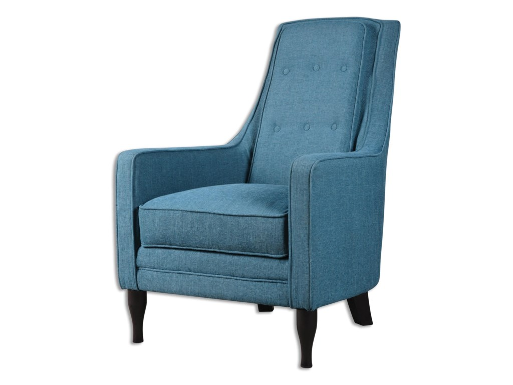 Uttermost Accent FurnitureKatana Peacock Blue Armchair