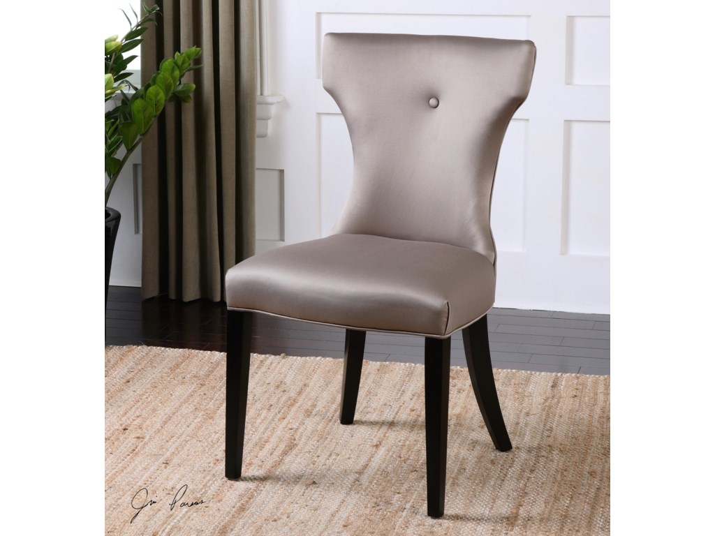 Uttermost Accent FurnitureWynter Satin Armless Chair