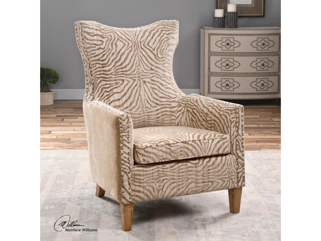 Uttermost Accent FurnitureKiango Animal Pattern Armchair