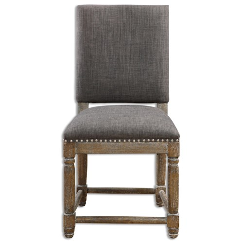 Uttermost Accent Furniture Laurens Gray Accent Chair