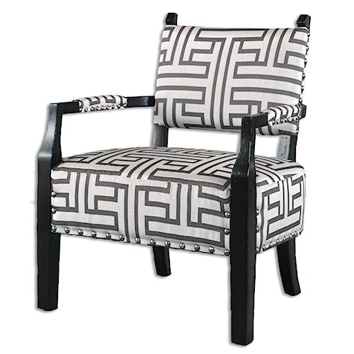 Uttermost Accent Furniture Terica Geometric Accent Chair