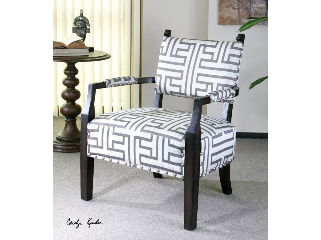 Uttermost Accent Furniture - Accent ChairsTerica Geometric Accent Chair