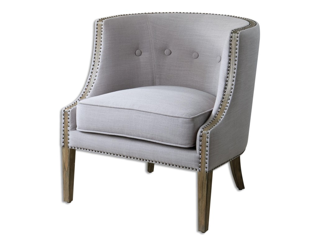 Uttermost Accent FurnitureGamila Light Gray Accent Chair