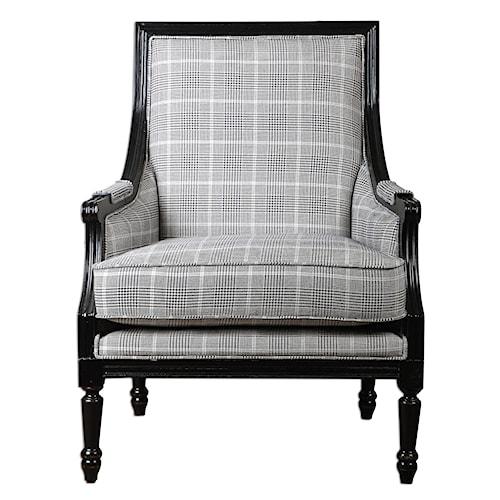 Uttermost Accent Furniture Scott Wood Frame Armchair