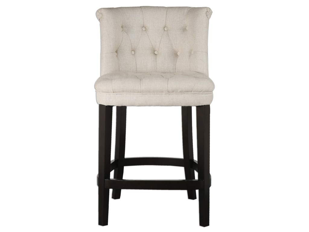Uttermost Accent FurnitureKavanagh Tufted Counter Stool