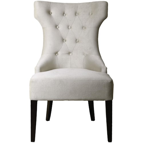 Uttermost Accent Furniture Arlette Tufted Wing Chair