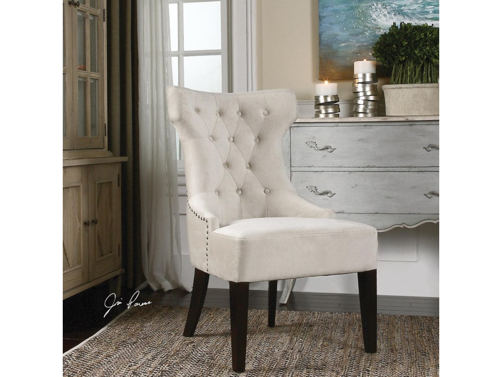 Uttermost Accent FurnitureArlette Tufted Wing Chair
